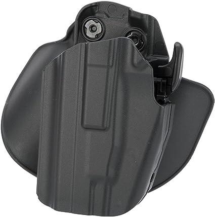 Safariland 578 7TS GLS Pro-Fit, Standard Frame, Long Slide, Paddle & Belt Loop Holster, Plain Black, Left Hand