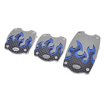 Cubre Pedal Car Auto metal antideslizante gas embrague de freno de 3 piezas, color azul: Amazon.es: Coche y moto