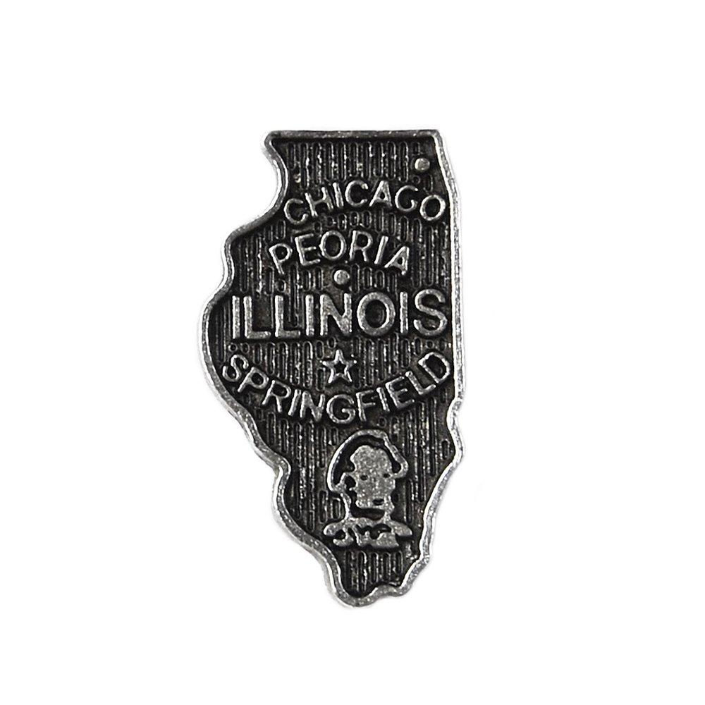 Quality Handcrafts Guaranteed Illinois Lapel Pin