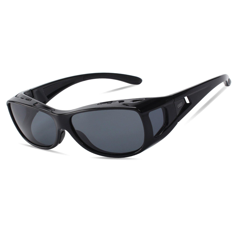 c7312b43ce1 Amazon.com  CGID Sunglasses Wear Over Prescription Glasses Rx Glasses Wrap  Around Polarized Sunglasses Covers