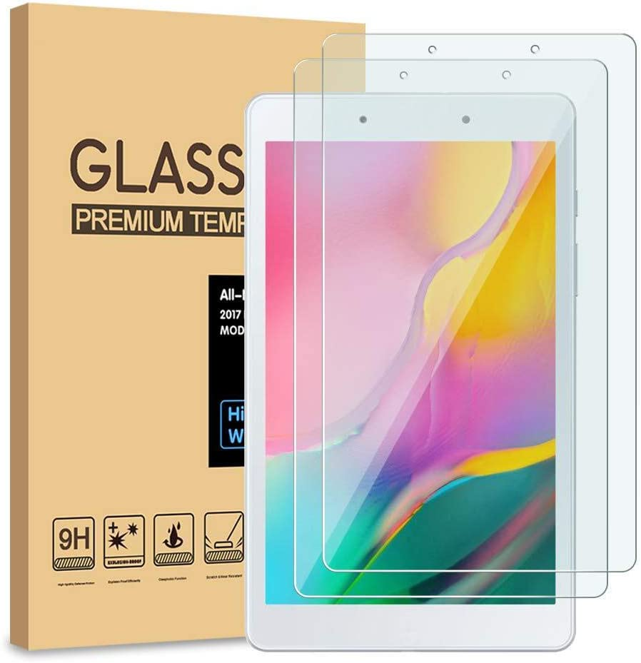 [2-Pack] PULEN Tempered Glass for Samsung Galaxy Tab A 8.0 2019 T290 Screen Protector (Only for SM-T290 WiFi Model),HD Clear Anti-Scratch Bubble Free 9H Hardness