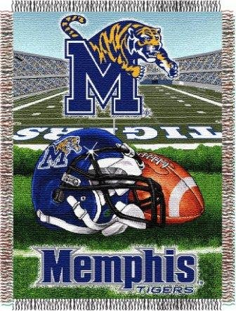 The Northwest Company NCAA Memphis Tigers Home Field Advantage Woven Tapestry Throw, 48