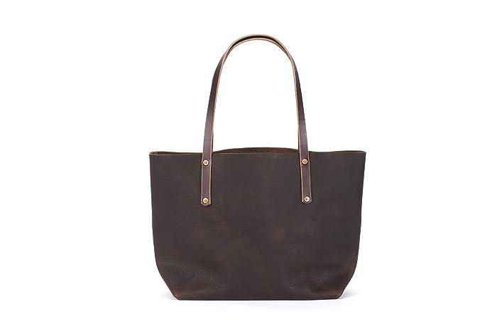 Amazon.com  Handmade Leather Tote Bag - Avery Tote  Handmade 53420359eef8a