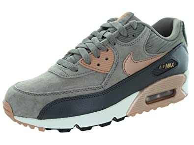 wholesale dealer 5882b 6539b Nike Air Max 90 Leather Women Schuhe iron-metallic red bronze-dark storm-sail  - 42  Amazon.co.uk  Shoes   Bags