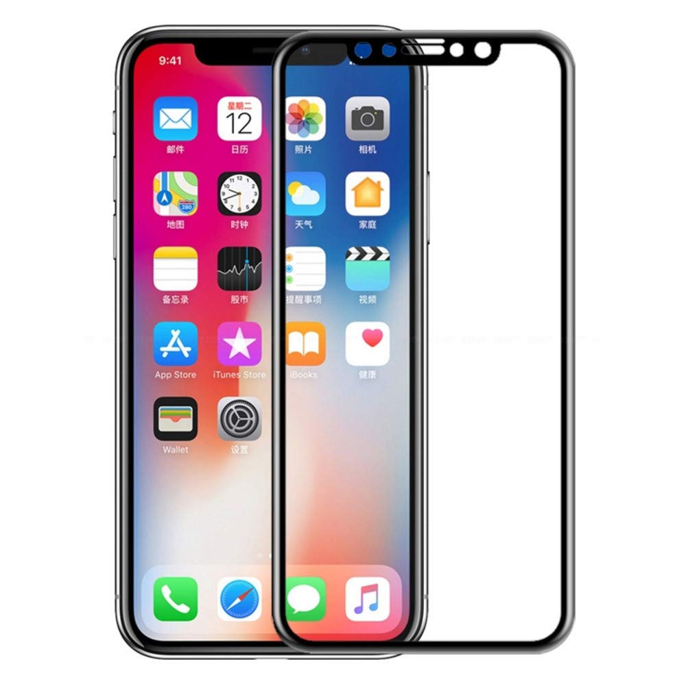 Amazon.com: DEESEE(TM) New🌸2 Pack Full Cover Tempered Glass Screen Protector for iPhone XS/xs max/XR (C): Home Improvement