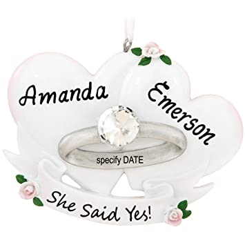 Workbook christmas kids worksheets : Amazon.com: Engagement Ring Marry Me Personalized Christmas Tree ...