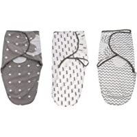 MagiDeal 3PCS Newborn Cotton Swaddle Blanket Infant Sleeping Bag Swaddle Wrap Gift