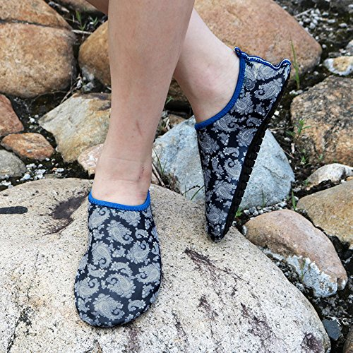 Eizur Barefoot Water Skin Shoes Unisex Quick Drying Aqua Socks Beach Shoes for Beach Swim Surf Diving Yoga Exercise Dance Running for Men Women Black eU6qFJUh4j