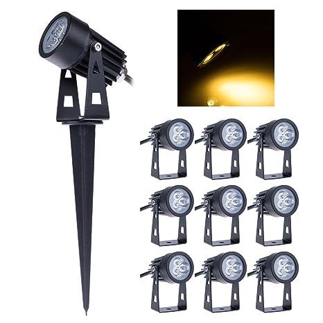 10X LED Strahler Garten Scheinwerfer Aussen-Leuchte Bodenleuchte wasserdicht