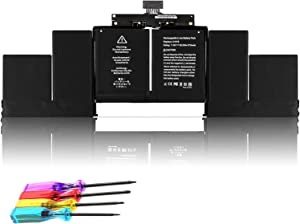 A1618 Replacement Battery Compatible with MacBook Pro15 A1398 (Late 2013 Mid 2014 2015)- 020-00079 MJLQ2LL/A MJLQ2 MJLT2LL/A ME293 ME294 MGXA2 MGXC2 - (11.36V/99.5Wh)
