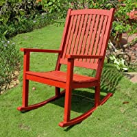 International Caravan TT-RO-03-BRD-IC Furniture Piece Acacia Large Rocking Chair