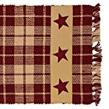 country kitchen table runners Burgundy Farmhouse Star 54