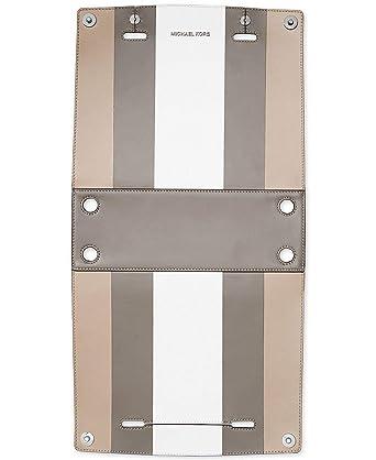 cc047960e60c Amazon.com  Michael Kors Selma Swap Soft Box Stripe Medium Satchel Swap  White Cement Pearl Grey  Clothing
