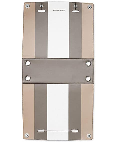 98a0ab9287089 Michael Kors Selma Swap Soft Box Stripe Medium Satchel Swap  White Cement Pearl Grey  Amazon.in  Clothing   Accessories