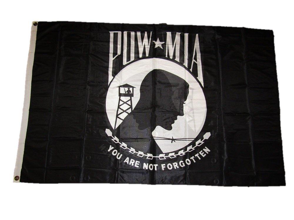 ★大人気商品★ 4 x of ' 6 POW MIA POWMIA Prisoner of B01MU8Y78X War Double Sided 2ply 200dナイロンフラグ4 ' x6 ' Ft B01MU8Y78X, 編み糸織り糸の「小糸屋」:58fd9641 --- west-llc.com