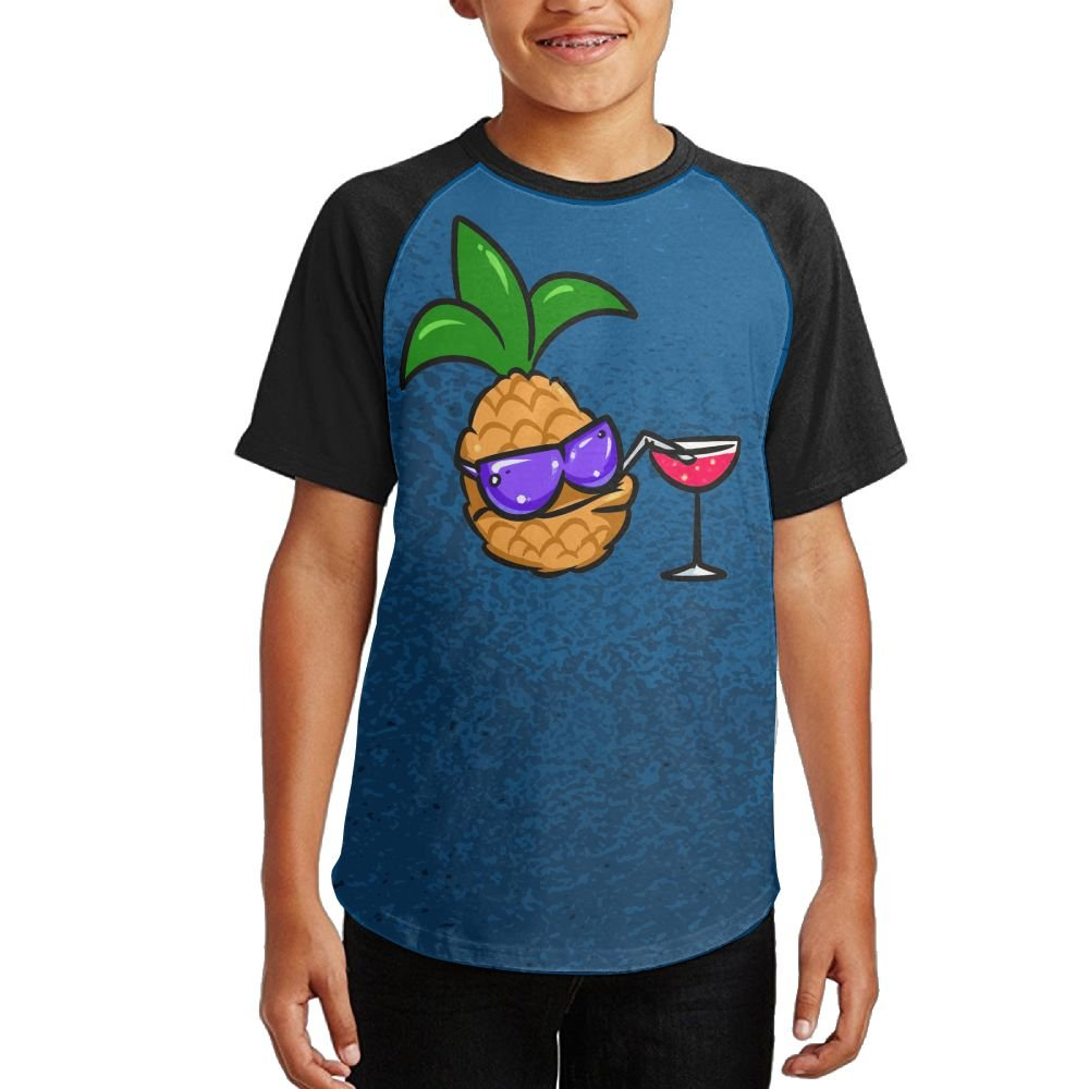 Fruit With Sunglasses Young Quick-Drying Raglan Short-Sleeve Shirt