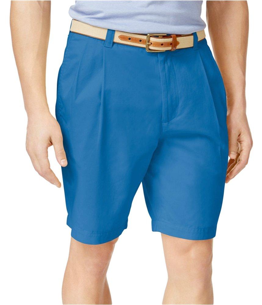 Club Room Mens Double Pleated Casual Chino Shorts Blue 42 Big - Big & Tall