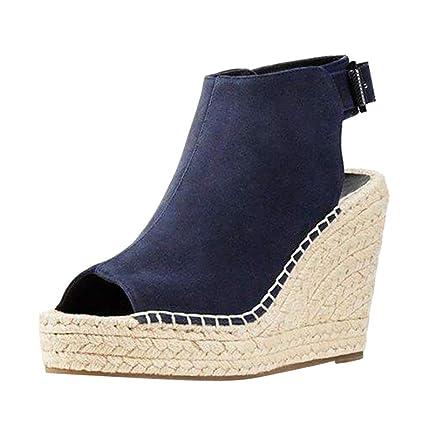 a7074eb303ccf Amazon.com: ❤ Mealeaf ❤ Women's Ladies Fashion Solid Wedges ...