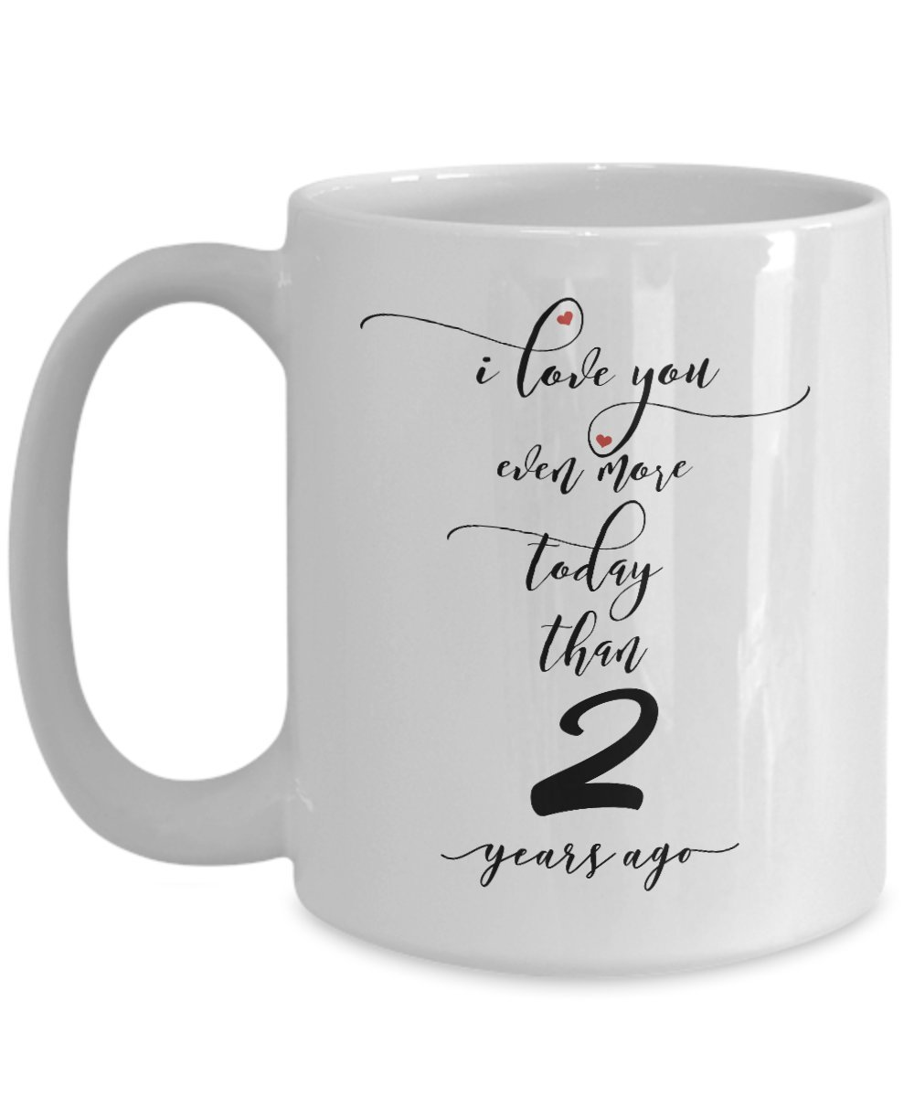 2 nd結婚記念日ギフトfor Him – I Love You More – 2 nd Yr年2番目2つロマンチックセクシーなコーヒーMug Cup For Herメンズレディース夫妻 15oz GB-2432033-43-White B07B2D54XL  ホワイト 15oz