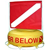 Scuba Choice Scuba Diving Deluxe Diver Below Inflatable Float and Flag Bouy