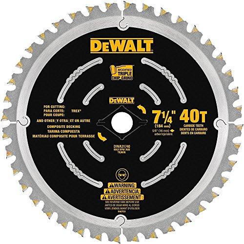 """DEWALT DWA31740 Composite Decking Blade, 7-1/4"""""""