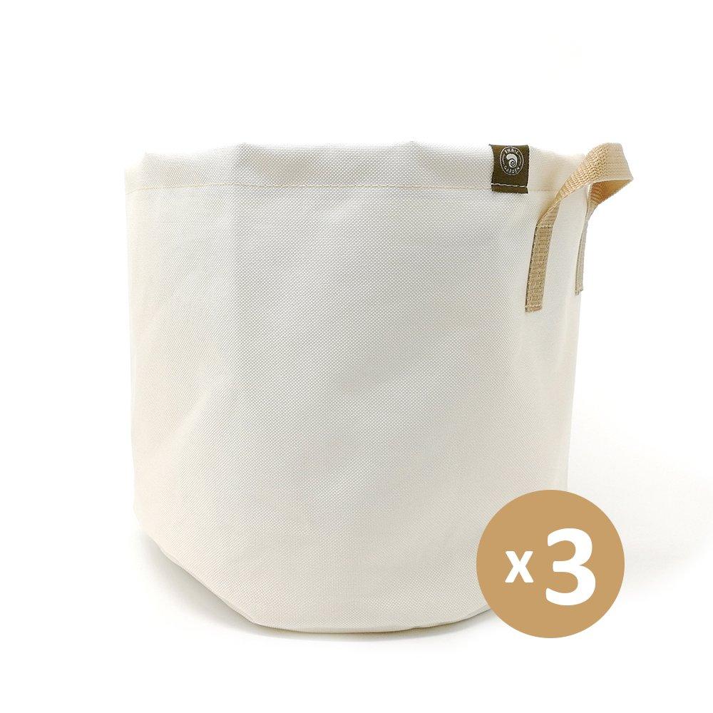 Snail Garden: 3-Pack 5 Gallon Grow Bags (White) by Snail Garden