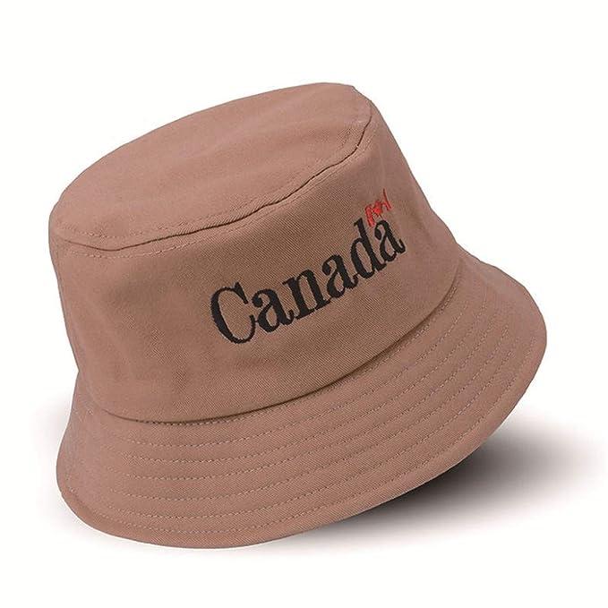 b0e3587ea448d Canada Cotton Bucket Hats Men Women Panama Fishing Hats Summer Street Hip  Hop Cap Sun Beach