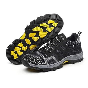 Zapatos de Seguridad para Mujer Punta de Acero Zapatos Ligero Zapatos de Trabajo Respirable Construcci/ón Zapatos Reflexivo Botas de Seguridad LM-121