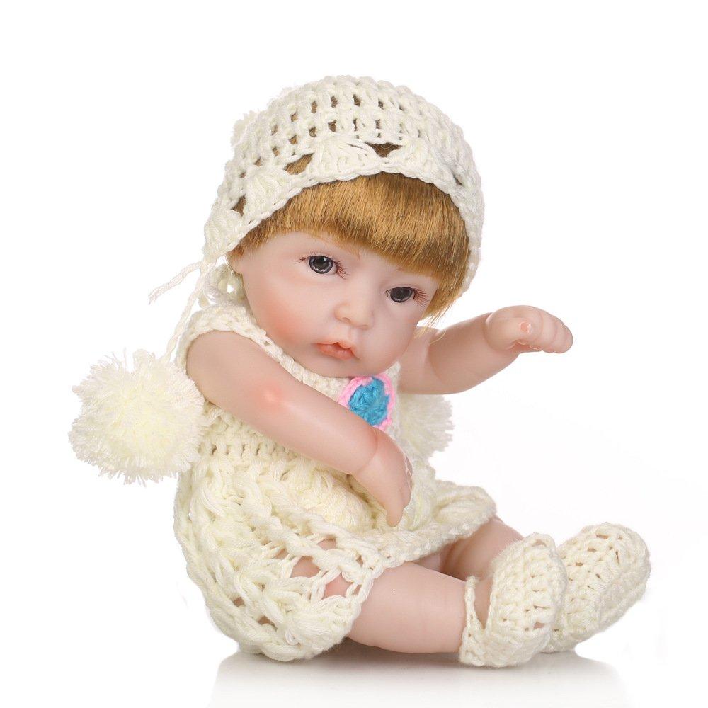 GUOHONG-CX Simulations Wiedergeburt Puppen Silikon Nettes Baby Kann Wasser Mitbringen Um Spielzeug Kind Kreatives Geschenk 27CM Zu Begleiten