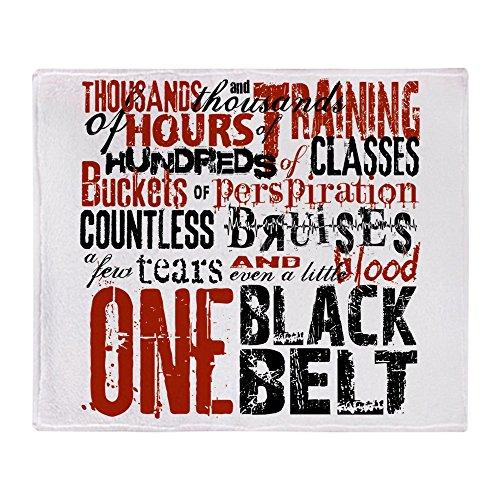 CafePress ONE Black Belt Soft Fleece Throw Blanket, 50