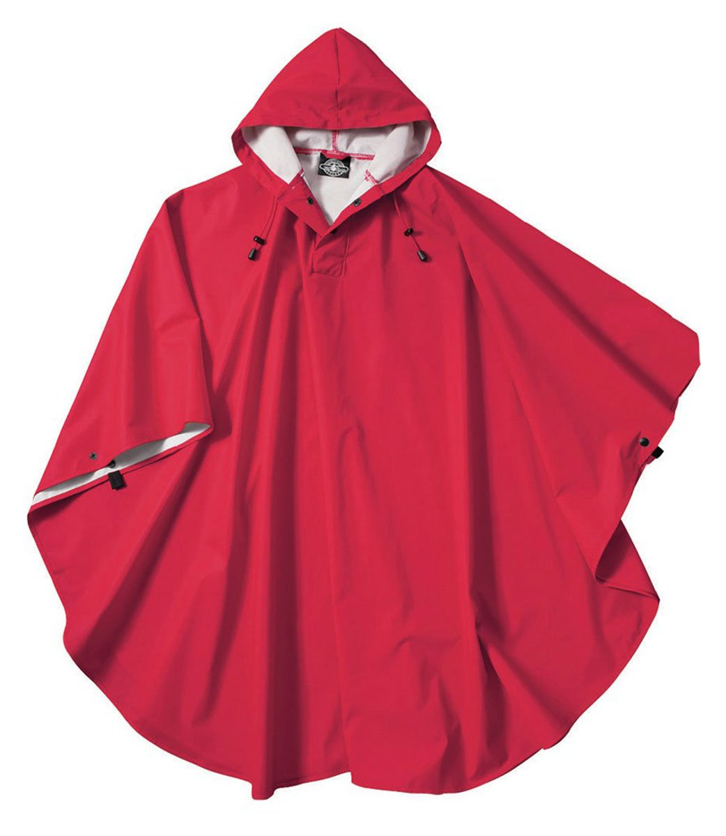 Charles River Apparel Men's Pacific Poncho, Red, One Size