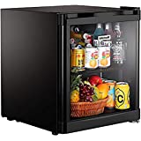 Kitchoff HY50 50 L Aluminium and Glass Direct Cool Standard Single Door Mini Refrigerator (Black)