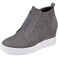 Women Platform Wedge Sneakers Booties Ankle Heels Fashion Shoes