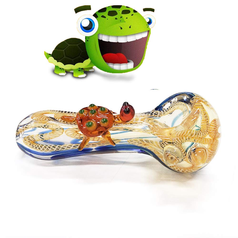 4.5 Inch Newest Cute Turtle Glassworks Handmade Style