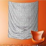 SeptSonne Decorative Wall tapestry Floral Motifs Arabian Islamic Patterns in Mod Oriental Decor Bedding 51W x 60L INCH