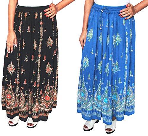 MapleClothing - Jupe - Femme taille unique Black/Blue- 2 Pack