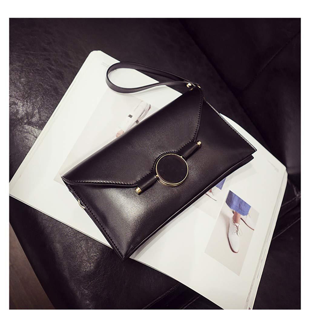 Cloudqi Fashion Women Wild Bag Shopping Bag Crossbody Decorate Messenger Bags Street Trend Black