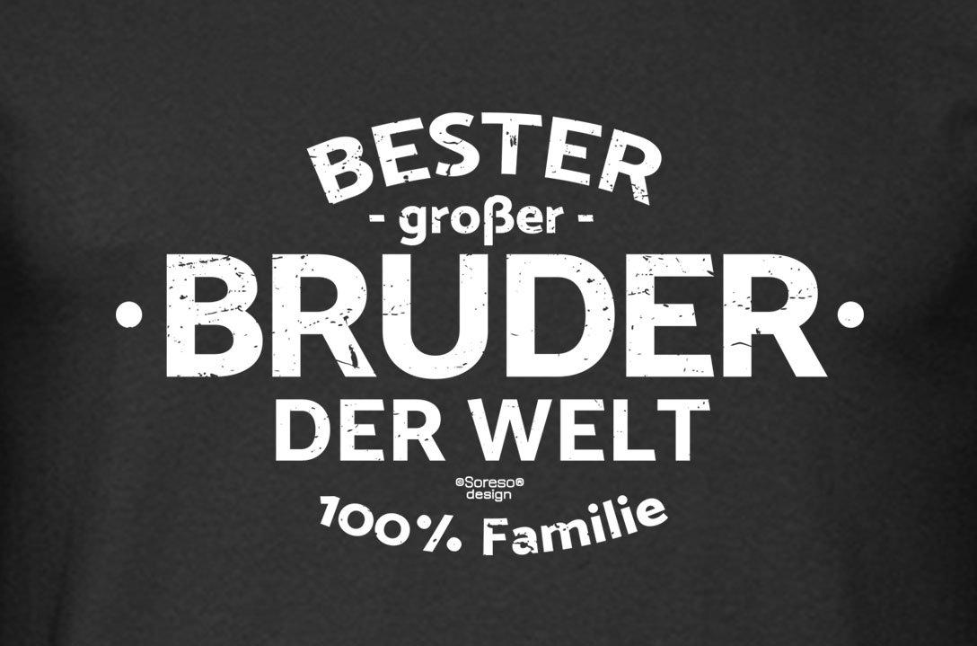 Soreso Design Geschenk-Set großer Bruder der Welt - Kissen inkl ...