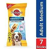 Pedigree Dentastix, Oral Care Dog Treat for Adult Medium Breed (10-25kg) Dogs – 180 g Weekly Pack (7 Sticks)