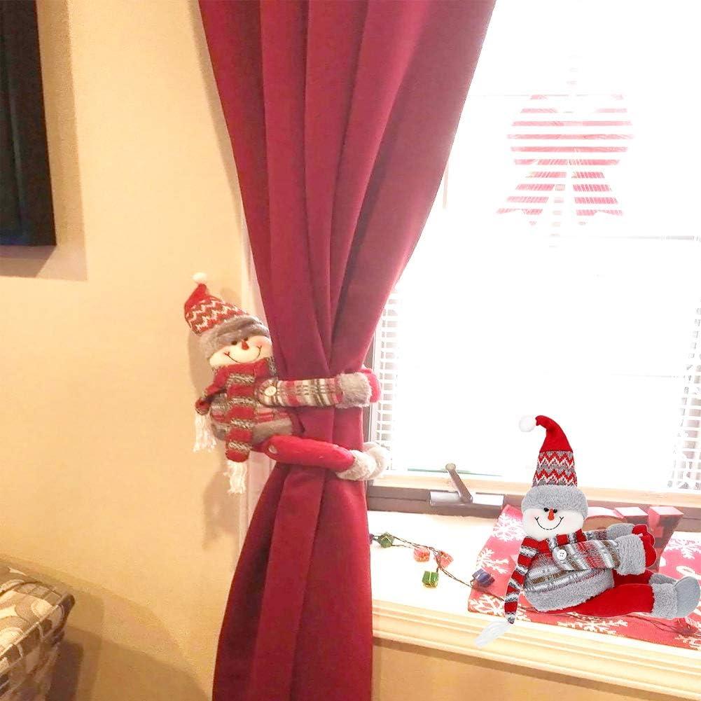 CMTOP Natale Regali di Natale Tenda Decorazione Curtain Buckle Old Man Christmas Morsetto Gancio di Fissaggio Tenda Fibbia Fibbie Finestra Tenda fermatenda Forniture Babbo
