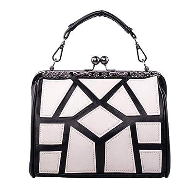 adf33cac583d1 Damen Tragbare PU Leder Geldbörse Geometrische Muster Handtasche Klassischer  Stil