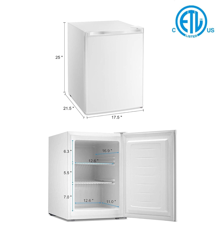 Congelador vertical de pie con estante extraíble, termostato ...