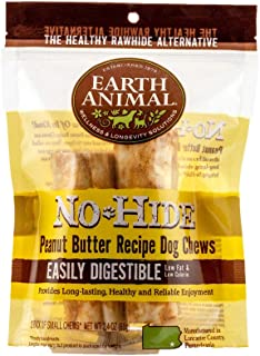 product image for Earth Animal Small No-Hide Dog Chews - Made in The USA, Natural Rawhide Alternative Treats - Small (Peanut Butter - 2 Chews)