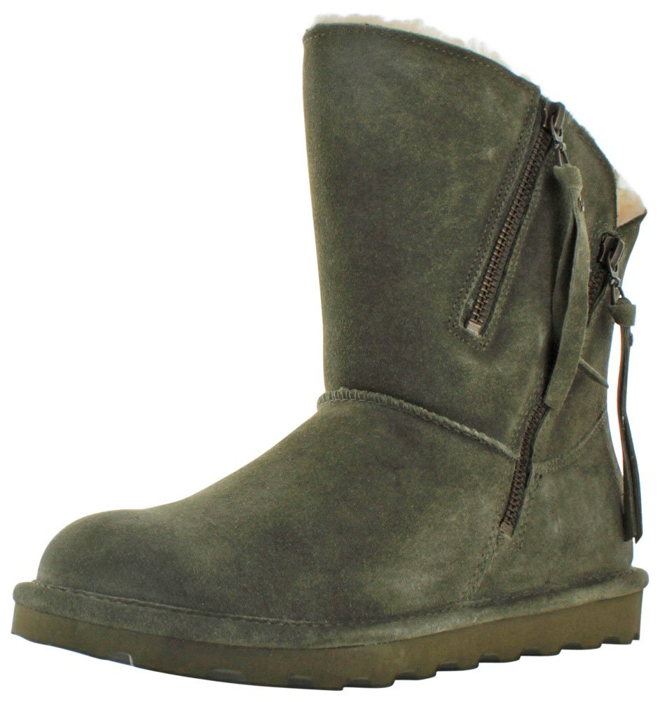 BEARPAW Womens Mimi: 8 In. Boot (Olive, 11)