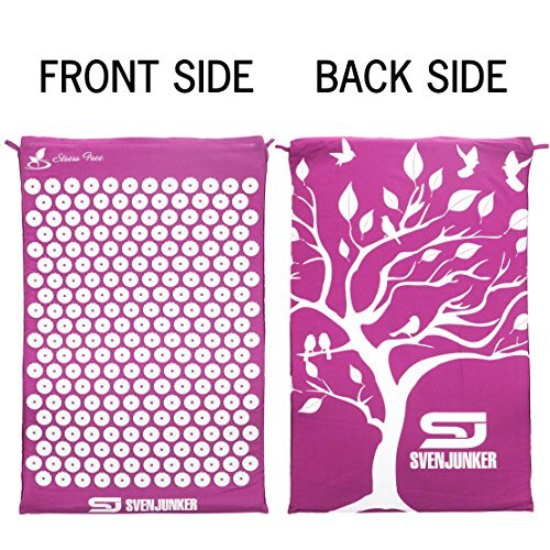 Innovative Acupressure Mat by Svenjunker: Back/Neck Pain Relief and Muscle Relaxation | Reflexology Massage Mat For Stress & Sciatic Pain | Acupuncture SpikePad | Carry Bag & Pillow