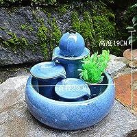LONG FU Creative ornamenti fontana in ceramica di natanti soggiorno home acqua umidificatore doni decorativi