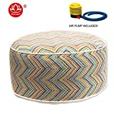 Kozyard Inflatable Stool Ottoman Used for Indoor or Outdoor, Kids or Adults, Camping or Home (COL)