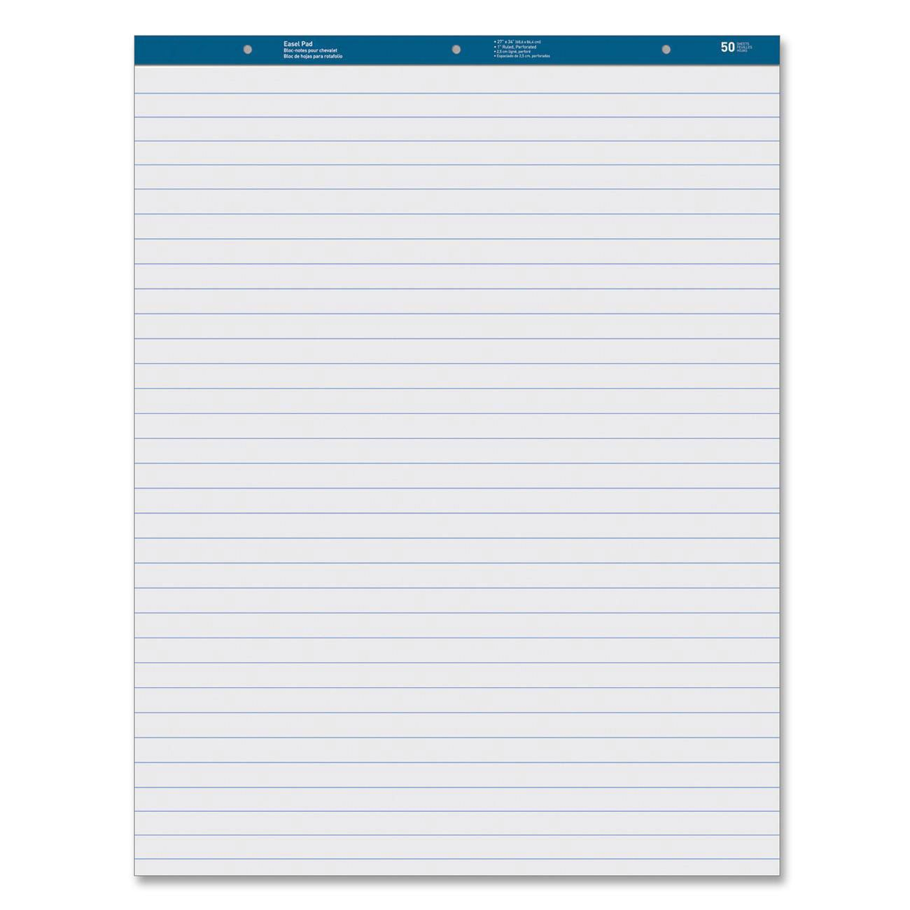 MyOfficeInnovations 3254408 Easel Pad Ruled 50 Sheets 27''x34'' 4/CT White