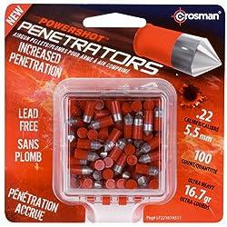 Crosman Powershot Red Flight Penetrators Premium Pellets, 100 Count