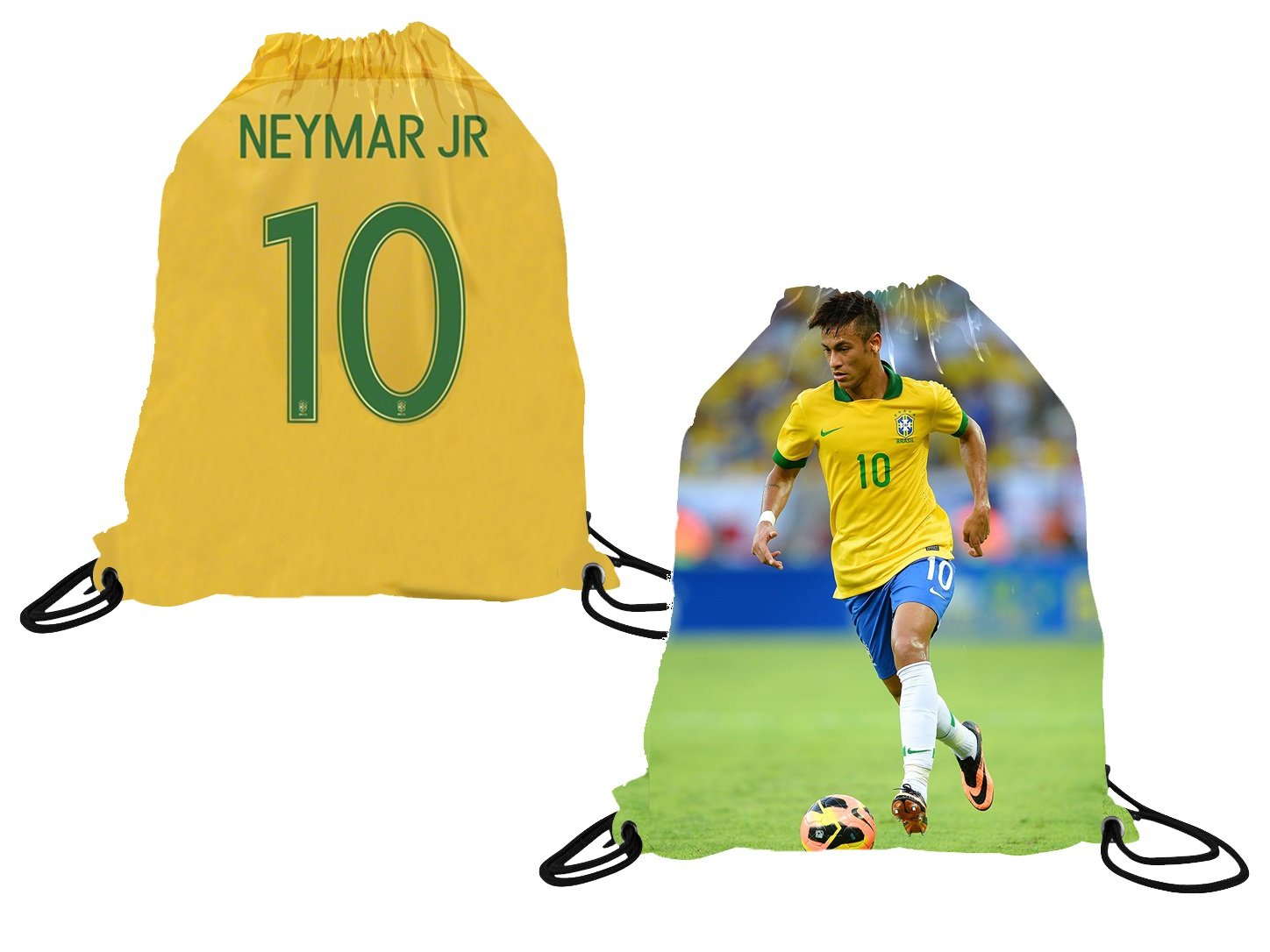 Athletics Rhinox Neymar Jersey Style T-Shirt Kids Neymar Jr Jersey Brazil T-Shirt Gift Set Youth Sizes ✓ Premium Quality ✓ Lightweight Breathable Fabric ✓ Soccer Backpack Gift Packaging